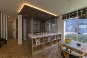 カフェのようなキッチンのあるお家